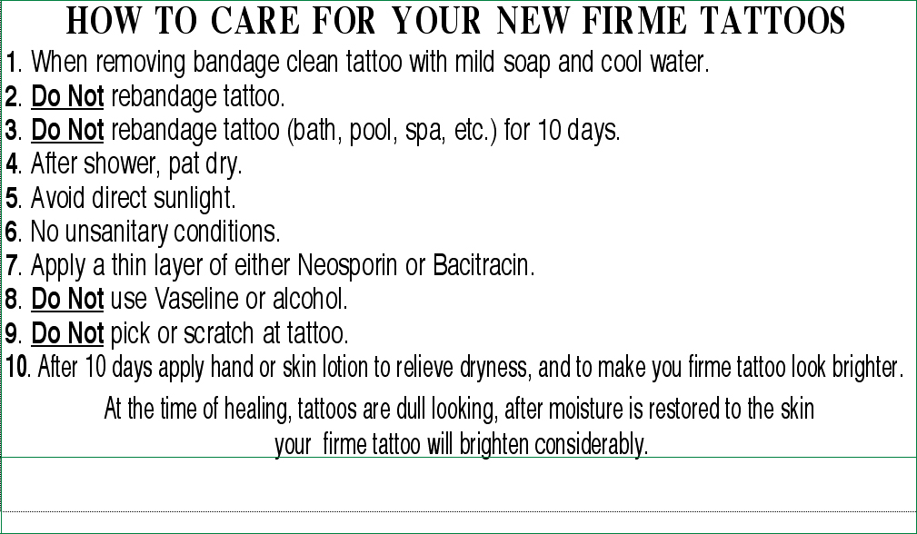 Getting a firme tattoo for How do you take care of a tattoo